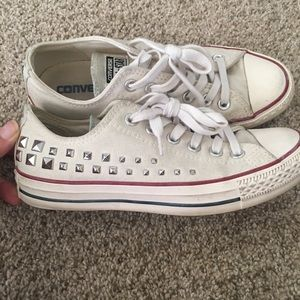 Converse All Star Studded Off-White Sneakers 7